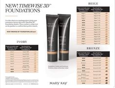Anne Hanson Mary Kay Sales Director-US TC Glamour – Keep up with the times. Mary Kay Timewise Foundation, Foundation Makeup, How To Match Foundation, Foundation Colors, Liquid Foundation, Base Mary Kay, At Play Mary Kay, Mary Kay Ash, Mary Mary