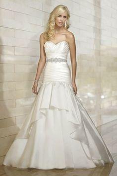 $205.91 Sweetheart Neck Rhinestoned Waist Pleated Bowknot Mermaid Wedding Dress For Women