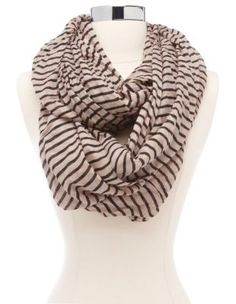 striped woven infinity scarf