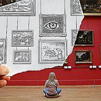 Pode tudo ter nascido de uma brincadeira: depois de escrever uma carta, Ben Heine reparou na transparência do papel e decidiu criar uma série de imagens que colocassem em justaposição fotografias e desenhos. O resultado é a estranha harmonia de cenários fotográficos e desenhos com elementos surreais.