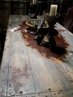 Painted barnwood table pt1