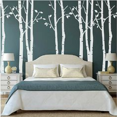 White Birch Tree Wall Stickers Decal Removable Vinyl Art Mural Room Decorative #Unbranded #Contemporary
