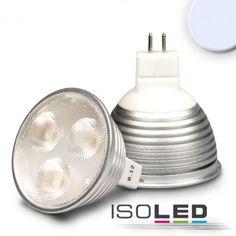MR16 LED Strahler 3x2 Watt, Style 3, 60° kaltweiss, dimmbar / LED24-LED Shop
