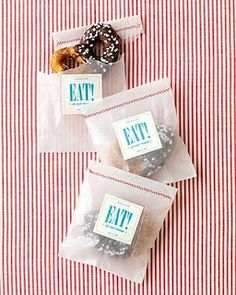 Christmas party favors: Eat, Drink & Be Merry