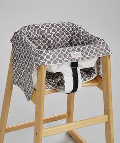 Look at this #zulilyfind! Pewter Flagon Swing & Restaurant High Chair Cover by Smitten Baby #zulilyfinds