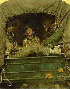 """Norman Rockwell, """"Willie Gillis in Convoy"""" c.1941 – The Lucas Museum of Narrative Art"""