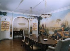 Simes Studios, Inc. Panoramic mural on canvas, overview.