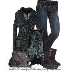 Cute dark outfit, think I'll skip that purse