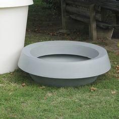 """Slide Design Giò Piatto Round Pot Planter Size: 19.7"""", Color: White, Light: Yes"""
