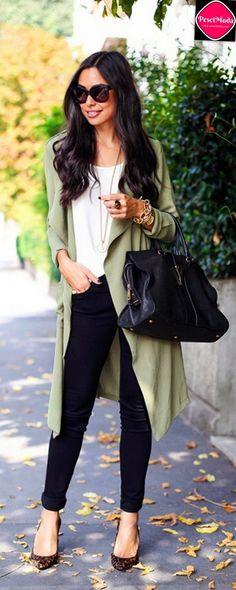 Chic Fall Fashion Casual Loose Jacket / Coat