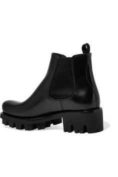 32db468d26f8 Prada - Leather Chelsea Boots - Black