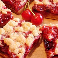 Cherry Pie Crumble Bars