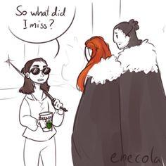 Arya returns to winterfell