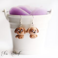 dog earrings  polymer clay by ElisaRadaelli on Etsy, €8.00