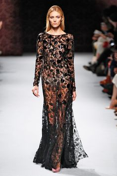 Who Won PFW? It's A 41-Way Tie #refinery29  http://www.refinery29.com/paris-fashion-week#slide31  Stunning! Nina Ricci kills the lace gown.