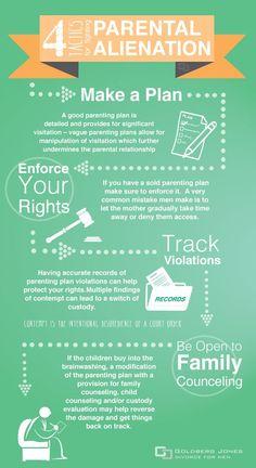 4 tactics for fighting parental alienation. #parentalalienationchildcustody