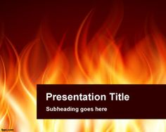 If you need to prepare a fiery presentation in PowerPoint then this burning PowerPoint template and background can be very effective