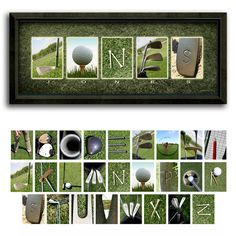 Golf Name Print - Personalized Golf Gift