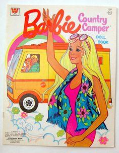 Vintage Whitman Mattel Barbie Country camper Paper Dolls 1973 Uncut Mod Ken PJ | eBay