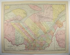1899 Manitoba Map Canada Vintage Map Canada Gift Idea Travel Map
