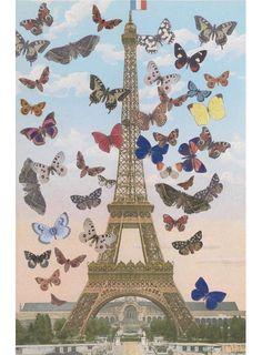 Sir Peter Blake Eiffel Tower Butterflies.