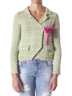 Odd Molly Lovely Knit Jacket 233, Mid Green - Knitwear - Clothing