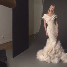 #ZacPosen #BridalFashionWeek this stunner wasn't designed as a bridal gown but would be a great dramatic option to #tietheknot