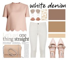 """Bright White: Summer Denim"" by nadiahirbah288 ❤ liked on Polyvore featuring Valentino, Dolce&Gabbana, Miu Miu, 3.1 Phillip Lim, Christian Dior, Kate Spade and LC Lauren Conrad"