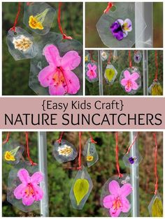 Spring Crafts for Kids: Easy DIY Nature Suncatchers! Fun preschool learning activity!