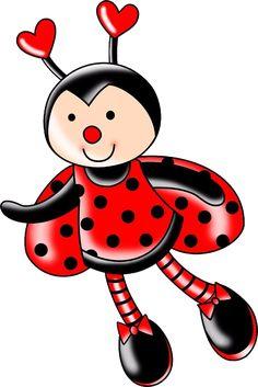 Baby Ladybug, Ladybug Art, Art Drawings For Kids, Easy Drawings, Lady Bug Drawing, Cute Kids Pics, Cute Animal Drawings Kawaii, Cute Bee, Love Bugs