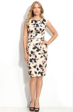 2828705b188 Maggy London Print Stretch Cotton Sheath Dress