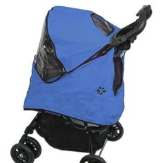 Pet Gear Weather Cover for Happy Trails Pet Stroller, Cobalt Blue