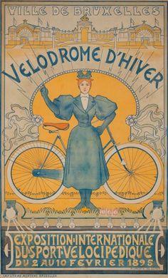 Vélodrome d'hiver - Exposition Internationale du sport vélocipédique - Ville de Bruxelles - 1895 - (Adolphe Crespin) -