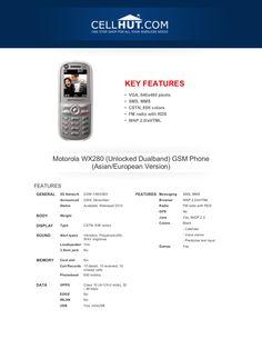 motorola-wx280-unlocked-gsm-phonefeaturesspecificationat-cellhut by Cellhut via Slideshare