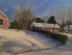 "Original oil painting, 8""x 10"", ""Snow Day"""