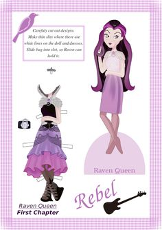 Ever After High Wonderworld - Free Raven Queen Downloadable Paper Doll