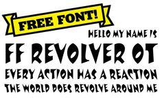 Find FF Revolver on #FontShop and download it for free!