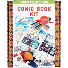 Kid Made Modern Comic Book Kit - Kids Arts and Crafts Toys, Storytelling For Kids - Best Seller List Crafts For Boys, Craft Projects For Kids, Craft Kits, Art For Kids, Comic Book Crafts, Comic Books Art, Book Art, Create Your Own Comic, Blank Comic Book