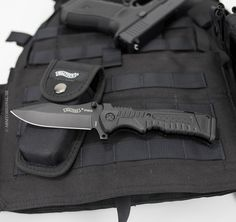 Tactical folding knife Walther P99 black Find our speedloader now!  http://www.amazon.com/shops/raeind