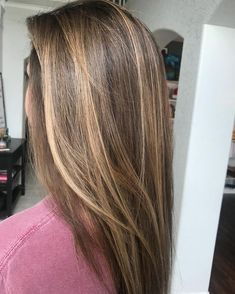 Brunette Balayage for Thick Hair - 50 Cute Long Layered Haircuts with Bangs 2019 - The Trending Hairstyle Brown Hair Shades, Brown Ombre Hair, Brown Blonde Hair, Brown Hair With Highlights, Light Brown Hair, Ombre Hair Color, Blonde Highlights, Sunkissed Hair Brunette, Balayage Brunette Hair