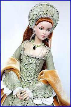 Tonner handmade OOAK historical outfit for dolls with Antoinette/Cami body Barbie Gowns, Barbie Clothes, Tudor Costumes, Indian Dolls, Victorian Dolls, Barbie Princess, Renaissance Fashion, Medieval Dress, Doll Costume
