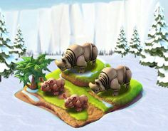 Ice Age Village... Familia Rinoceronte