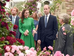 dailymail:  Chelsea Flower Show, May 23, 2016-Prince Harry and the Duke and Duchess of Cambridge