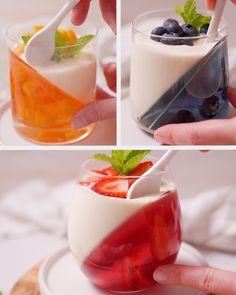 Jelly Desserts, Mini Dessert Recipes, Fruit Smoothie Recipes, Fun Baking Recipes, Cooking Recipes, Drink Recipes Nonalcoholic, Alcoholic Desserts, Yummy Drinks, Yummy Food