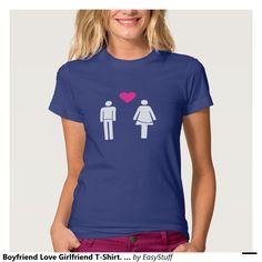 Camiseta de la novia del amor del novio. Corazón Playera