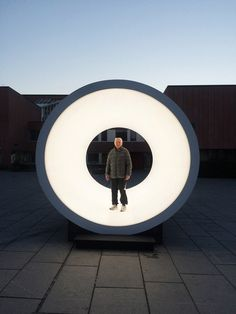 the installation reflects on near-death experiences reported by people -- often evoking the idea of an enlightened tunnel.
