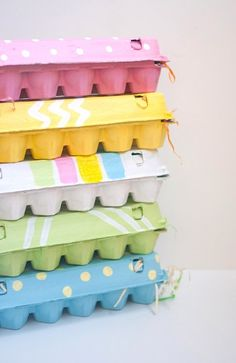 DIY Easy Painted Egg Cartons.