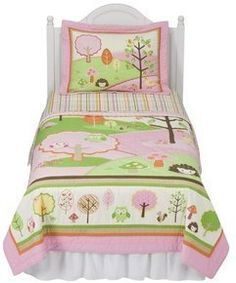 CIRCO LOVE AND NATURE OWL GIRLS 2 PIECE TWIN QUILT AND SHAM SET *NEW WITH TAGS*
