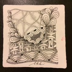 "Weekly Challenge #250: ""Bringing it Back to the Old School"" - I am the diva - Certified Zentangle Teacher (CZT®) -   This week challenge is to create a piece on a WHITE 3.5"" square tile, with a Black pen and pencil for shading.  To take the time to slow down and enjoy the process.  Enjoy the feel of the pen on the paper.  Create a string, use 4 or 5 tangles you really enjoy. Don't think about composition or think about how you want it to look. Just put your pen to paper and enjoy the…"