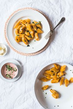 Potato dumplings with sweet potato